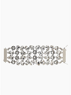 crystal petals statement bracelet