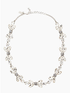 crystal petals short necklace
