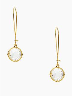 kate spade drop earrings clear