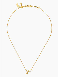 "say yes ""yes"" necklace by kate spade new york"