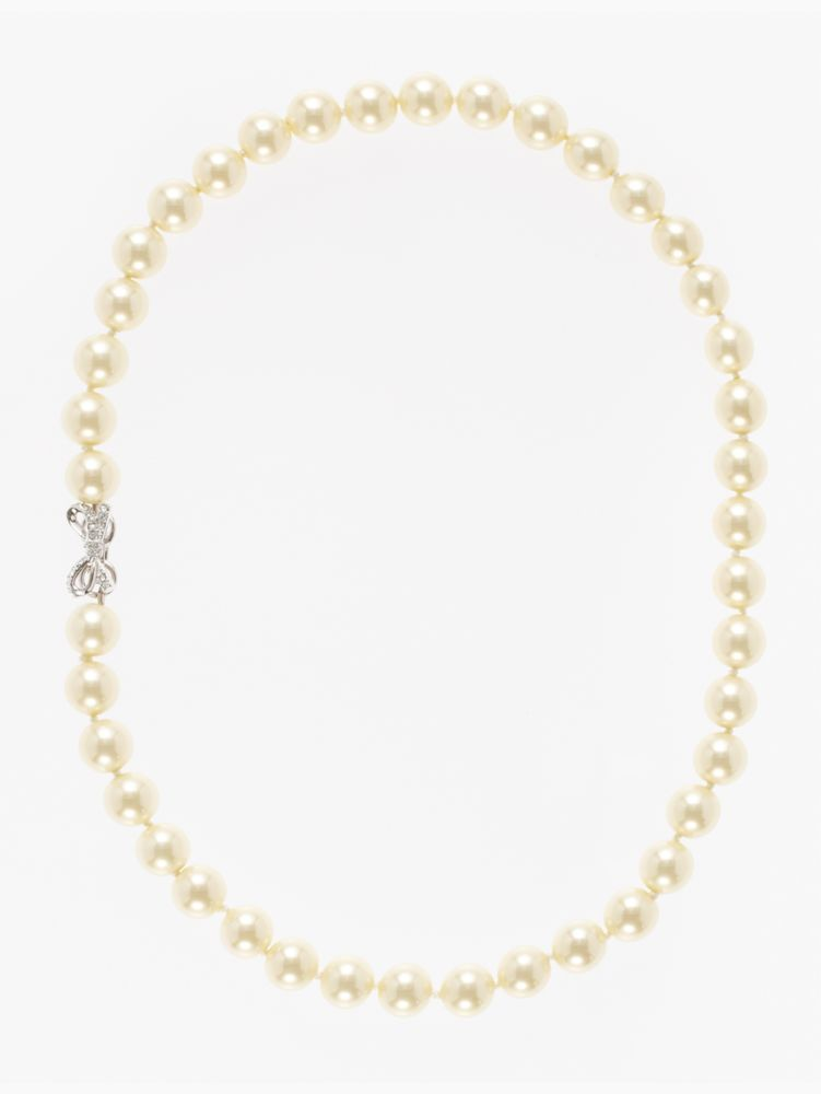 skinny mini bridal pearl necklace