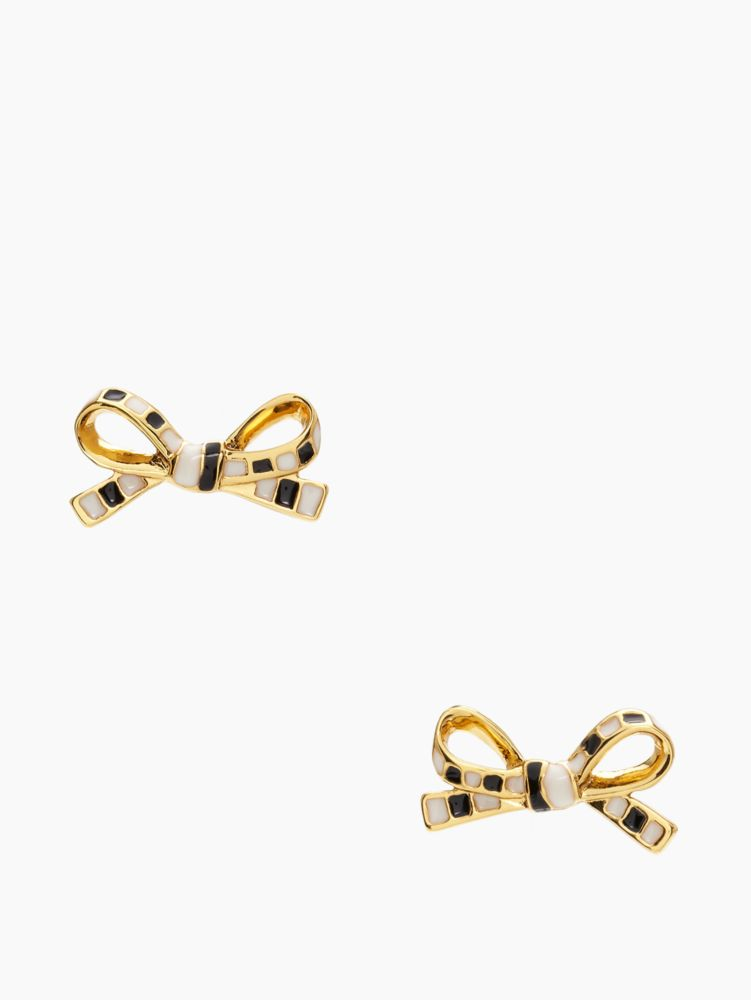 skinny mini bow studs