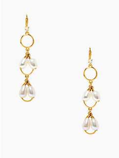 pearl point linear earrings