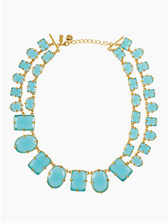 coated confetti short statement necklace