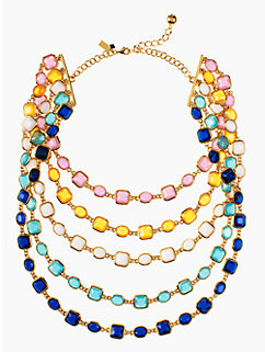 coated confetti bib necklace