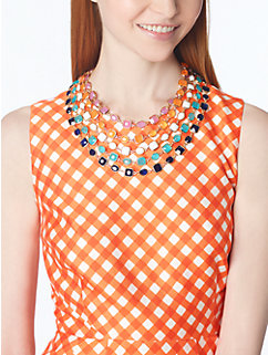 coated confetti bib necklace by kate spade new york