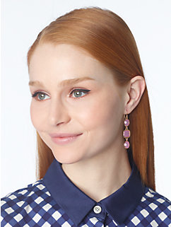 coated confetti linear earrings