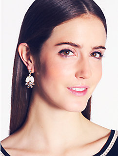 bungalow bouquet cluster drop earrings
