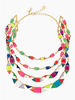pueblo tiles multistrand necklace