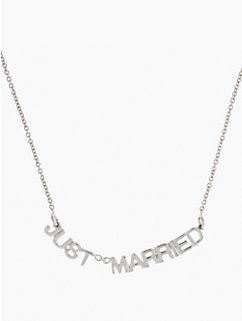 say yes ''just married'' necklace
