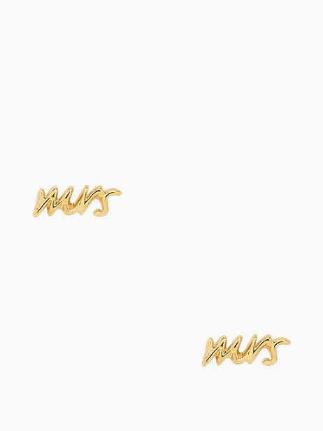 "say yes ""mrs"" studs by kate spade new york"
