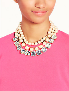shaken and stirred triple strand necklace by kate spade new york
