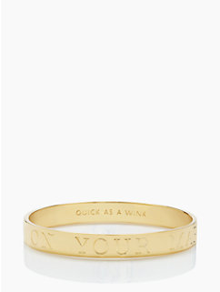 on your mark, get jet set, go idiom bangle by kate spade new york