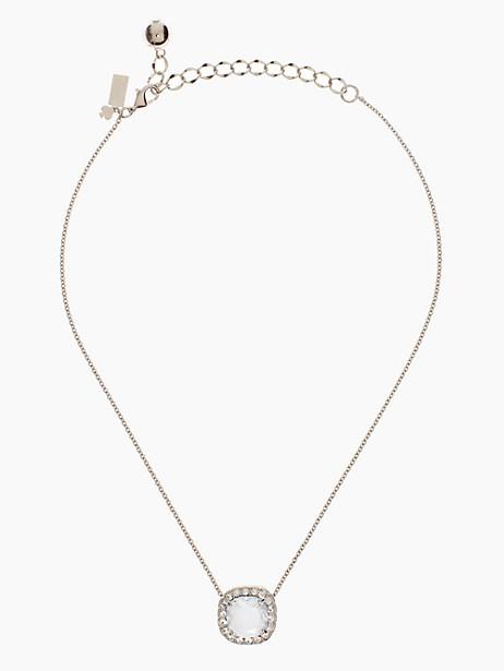 Kate Spade Basket Pave Pendant, Clear/Silver