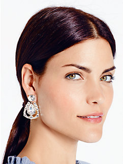 grand debut gems chandelier earrings by kate spade new york