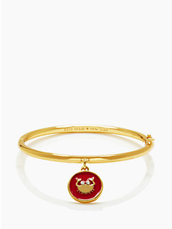 kate spade cancer charm bangle by kate spade new york