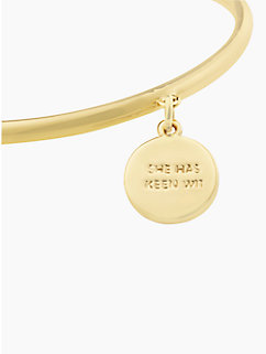 kate spade gemini charm bangle by kate spade new york