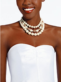 parlour pearls triple strand necklace by kate spade new york