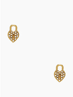 dear valentine heart and lock studs by kate spade new york