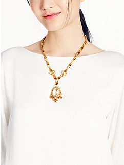 formal facets drop necklace by kate spade new york