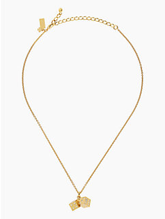 lucky streak dice mini pendant by kate spade new york