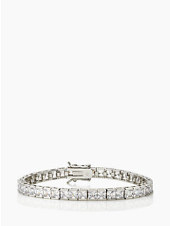 small princess cut make an entrance tennis bracelet by kate spade new york