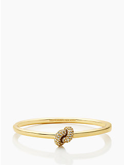 sailor's knot pave hinge bangle by kate spade new york