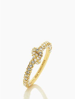 sailor's knot pave ring by kate spade new york