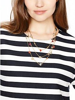 bashful blossom triple strand necklace by kate spade new york
