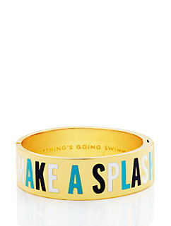 everything's going swimmingly hinged idiom bangle by kate spade new york