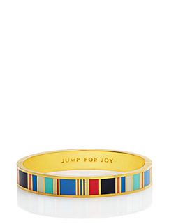 jump for joy hinged idiom bangle by kate spade new york