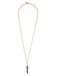 kiss and make up lipstick pendant by kate spade new york