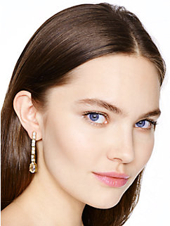 draped jewels linear earrings by kate spade new york
