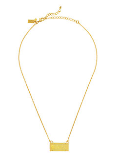 kiss a prince license plate necklace by kate spade new york