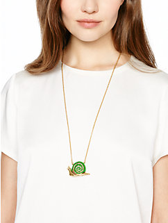 lawn party snail pendant by kate spade new york