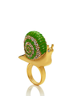 lawn party snail ring by kate spade new york