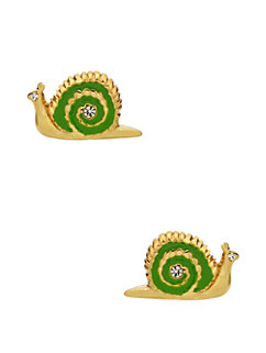 lawn party snail studs by kate spade new york