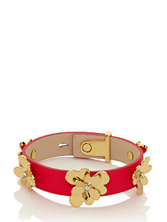 pansy blossoms leather bracelet by kate spade new york