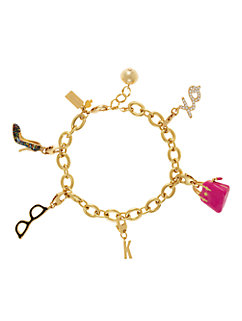 think pink charm by kate spade new york