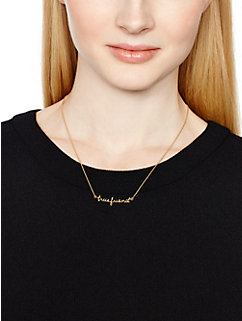 say yes true friend necklace by kate spade new york