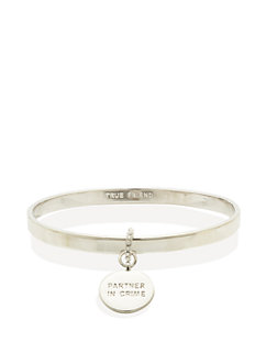 partners in crime charm bangle by kate spade new york