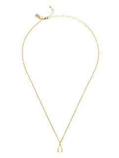 dainty sparklers wishbone pendant by kate spade new york