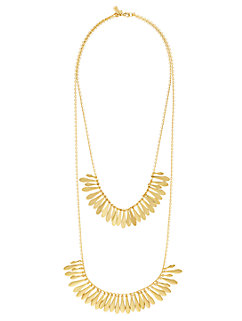 fancy flock double row necklace by kate spade new york