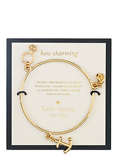 bridal anchor charm bangle by kate spade new york