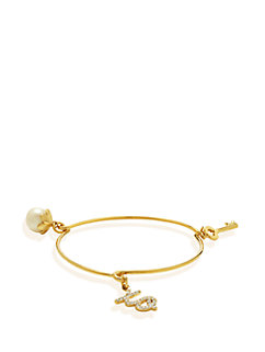 friendship key charm bangle by kate spade new york