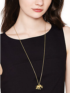 golden elephant pendant by kate spade new york