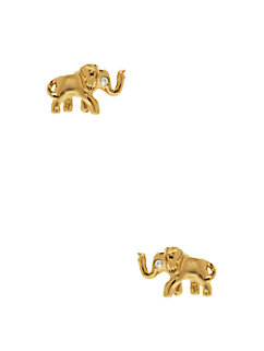 golden elephant studs by kate spade new york