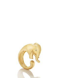 golden elephant wrap ring by kate spade new york