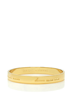 golden elephant engraved bangle by kate spade new york