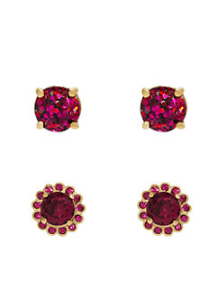 flower glitter stud set by kate spade new york